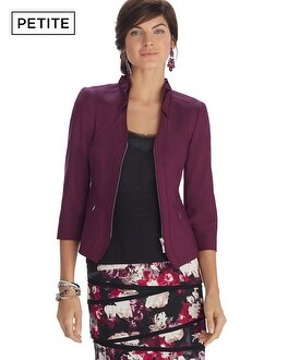 Petite Perfect Form Ponte Burgundy Jacket