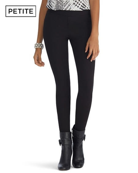 Petite Side Stripe Black Legging