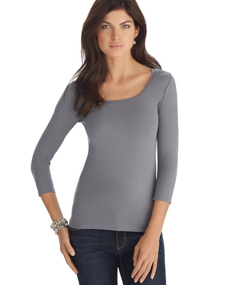 3/4 Sleeve Seamless Tee