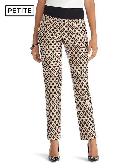 Take the leap into chic with this fierce feline print. No more hunting for perfect-fit pants—this crepe, pull-on pair is comfy, slimming, and wrinkle free. The cheetah print pairs beautifully with a black, neutral, or contrasting color top and sleek jewels. Crepe fabric that's custom-colored to match our wrinkle-free Travelers&; Classics.