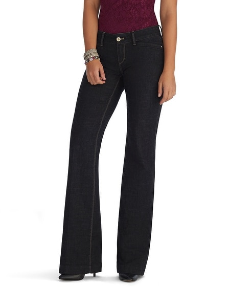 Curvy Black Trouser Jeans