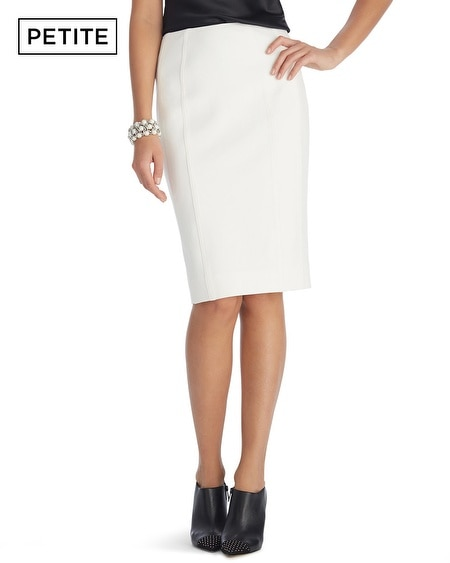 Petite Ecru Ponte Pencil Skirt