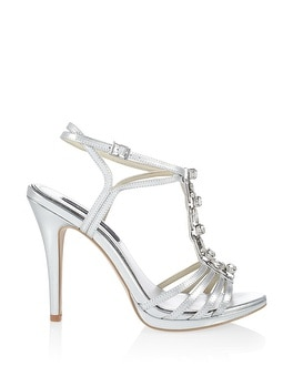 Metallic Gem Strappy Heels