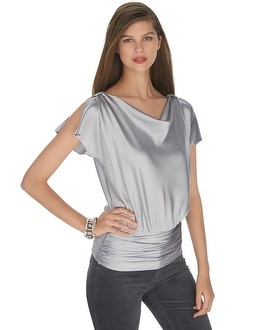 Cowl Neck Banded Blouse