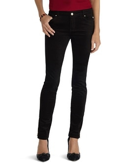Saint Honore Velvet Black Skinny Jean - White House | Black Market