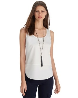 Sleeveless Mixed Layering Shell