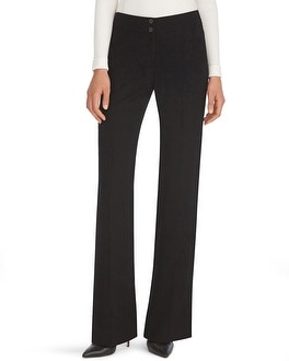 Luxe Suiting Black Wide Leg Crepe Pants