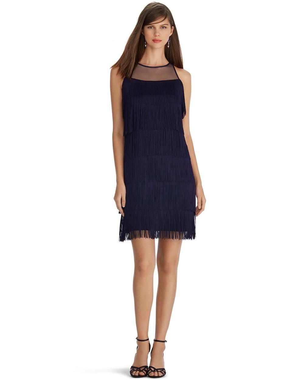 Blue Dress with Fringe