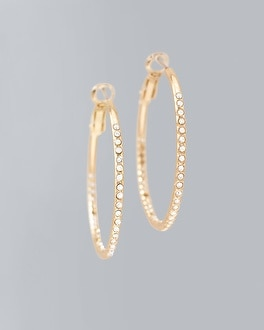 Crystal Double Pave Hoops