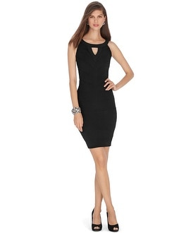 Sleeveless Tiered Black Instantly Slimming Dress