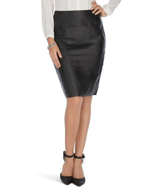 leather tiered black pencil skirt whbm
