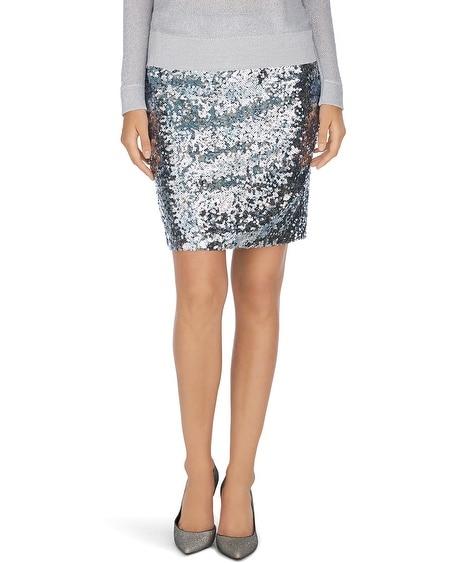 Silver Sequin Mini Skirt 7