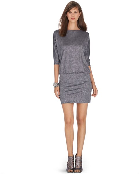 4d995f90957 Return to thumbnail image selection 3 4 Dolman Sleeve Shimmer Dress video  preview image