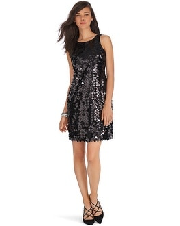 Sleeveless Sequin Black Party Dress - White House Black Market