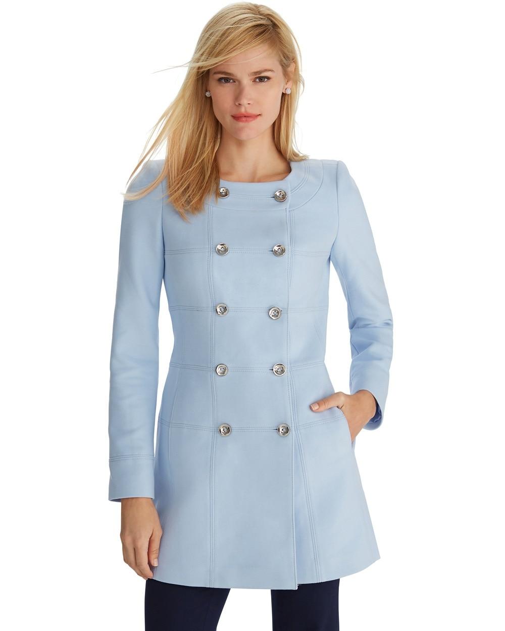 Blue Topper Coat - WHBM