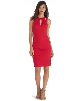 Sleeveless Cutout Instantly Slimming Dress