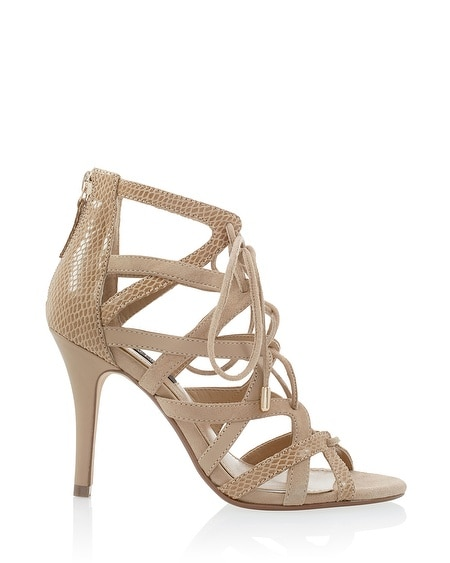 Neutral Strappy Heels | Tsaa Heel