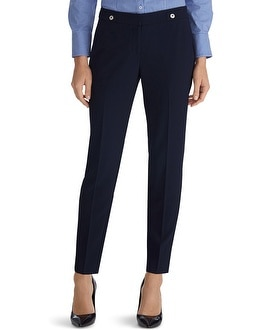 Navy Soft Drape Tapered Ankle Pants