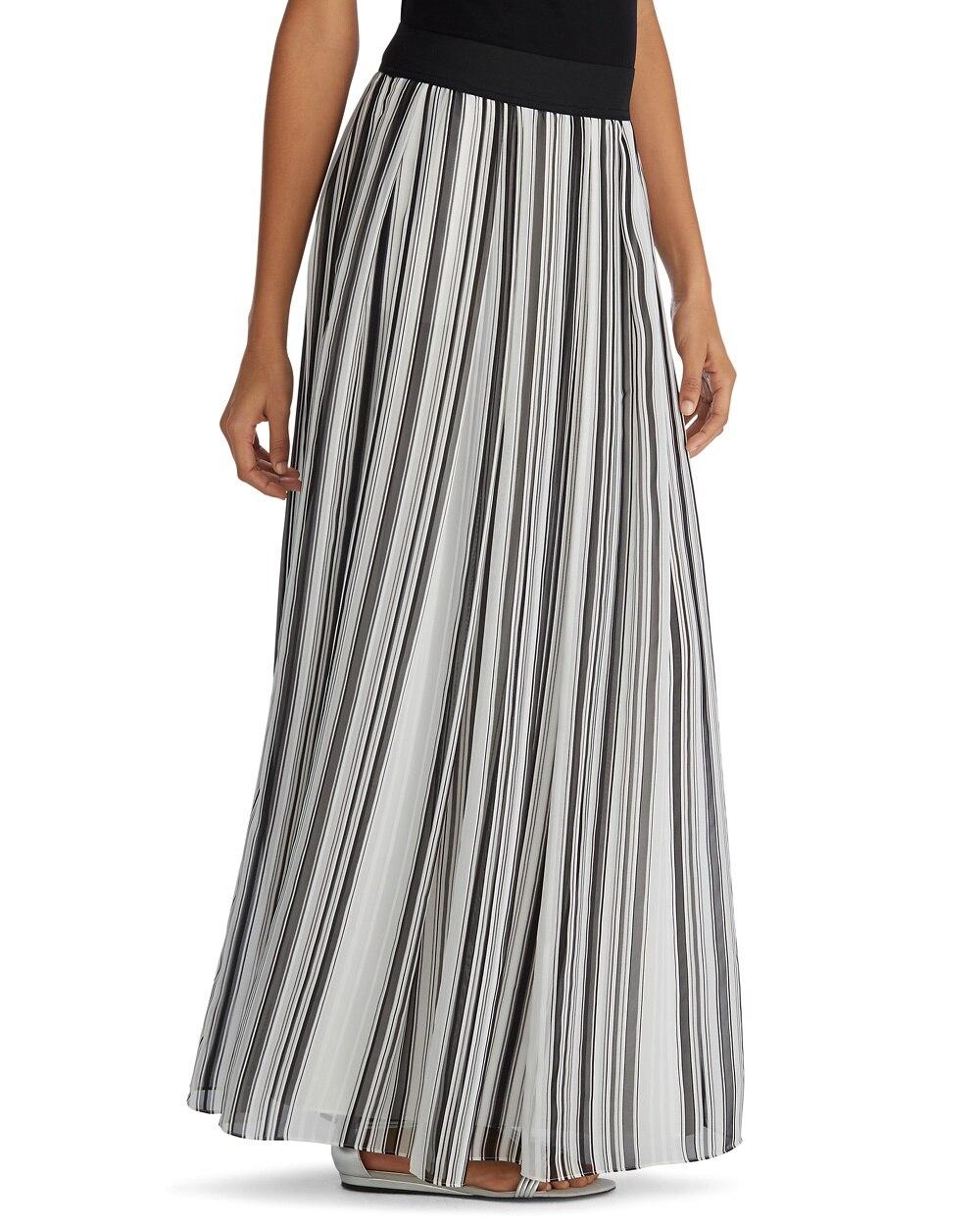 vertical stripe maxi skirt whbm