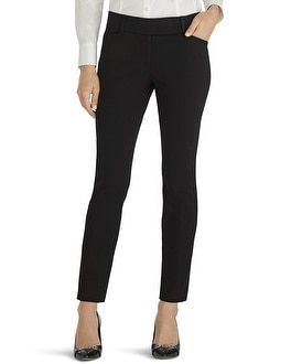Premium Bi-Stretch Slim Ankle Pants Black