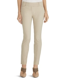 Premium Bi-Stretch Slim Ankle Pants Biscotti