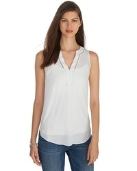 Iconic Starlet Sleeveless White Shirt