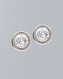 Stud Earrings With Crystals From Swarovski by Whbm
