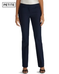 Petite Perfect Form Mini Navy Bootcut Pants