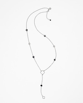 Bijoux Silvertone Drop Necklace