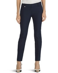 Curvy Perfect Form Navy Ankle Pants