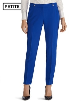 Petite Soft Drape Tapered Ankle Pants