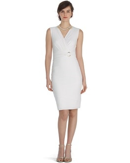 Sleeveless Tiered White Instantly Slimming Dress
