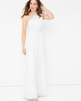 Genius Chiffon Convertible White Gown