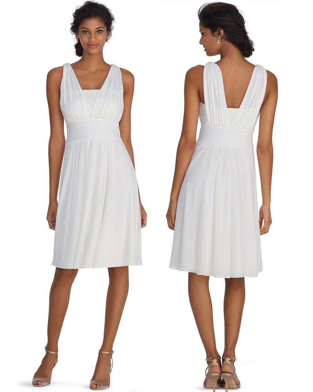 Genius Convertible White Dress Whbm