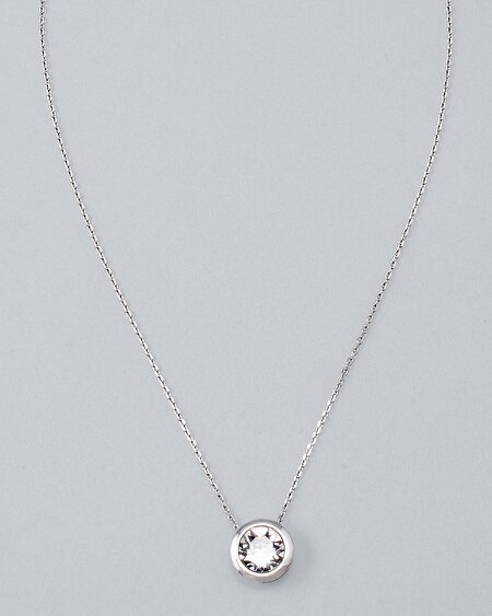 Bijoux Silvertone Pendant with Crystals from Swarovski