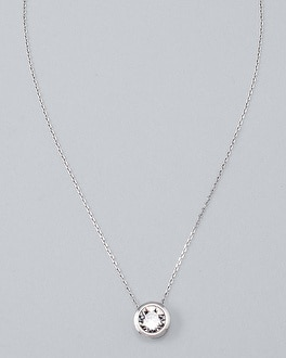 Bijoux Silvertone with crystals from Swarovski Pendant