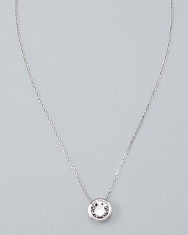Bijoux Silvertone Pendant With Crystals From Swarovski by Whbm
