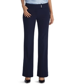 Curvy Seasonless Bootcut Navy Pants