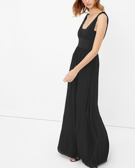 Genius Chiffon Convertible Black Gown