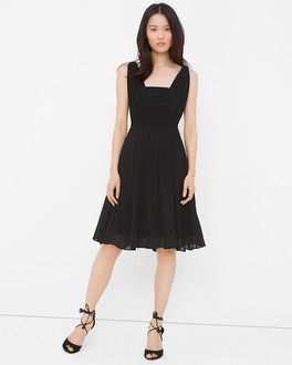 Genius Chiffon Convertible Black Dress