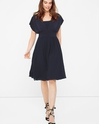 Genius Chiffon Convertible Navy Dress