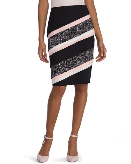 tiered colorblock pencil skirt white house black market