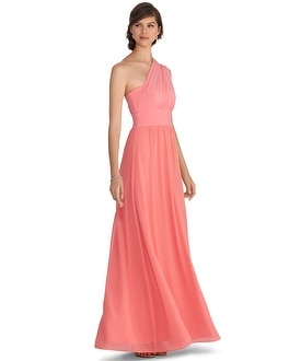 Genius Chiffon Convertible Papaya Gown