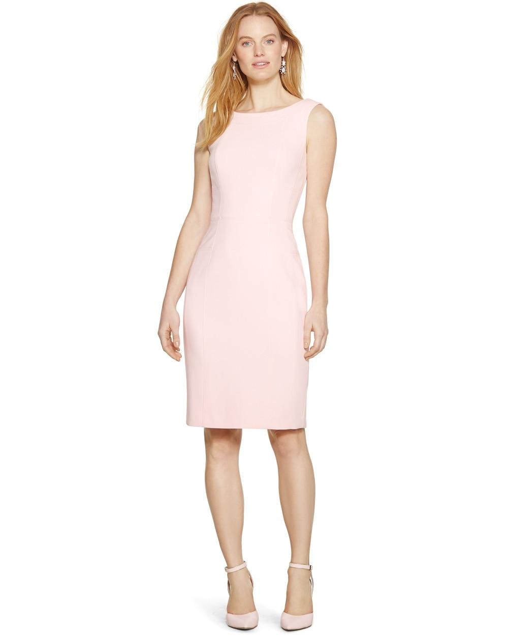 Pink Sleeveless Sheath Dress