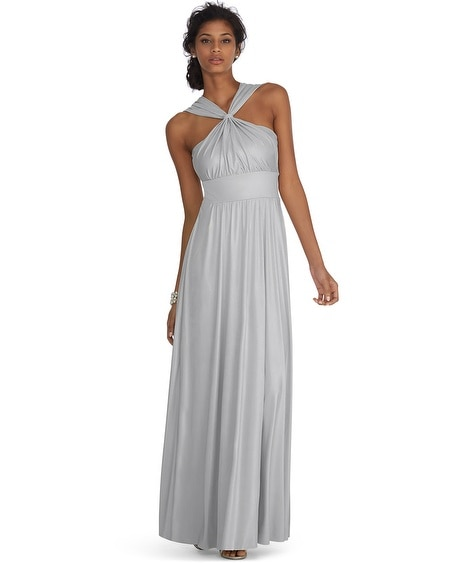 Genius metallic convertible silver gown for White house black market wedding dresses