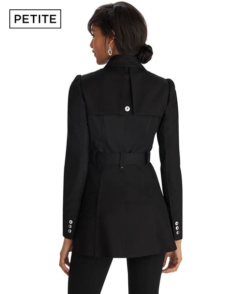 Petite Black Short Trench Coat - White House Black Market