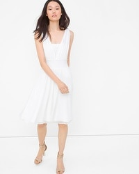 Genius Chiffon Convertible White Dress