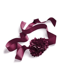 Triple Flower Merlot Sash Belt