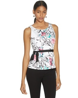 Sleeveless Floral Print Bodice Top