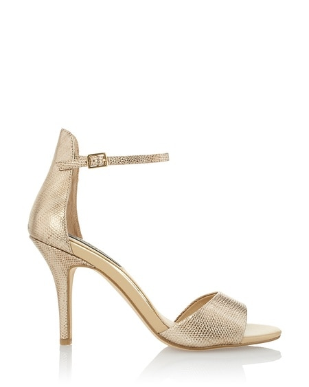 Gold Leather Heels | Tsaa Heel